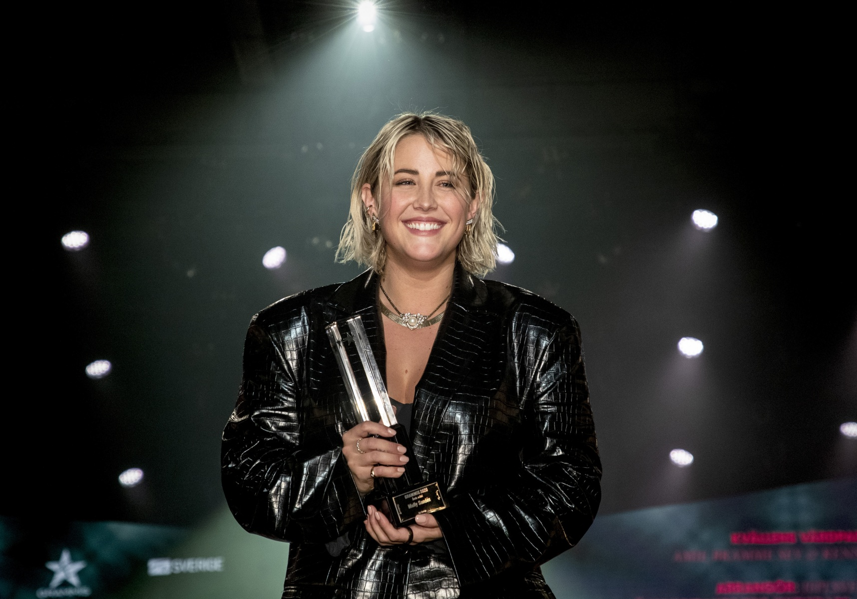 Molly Sandén receives a Swedish Grammy 2020