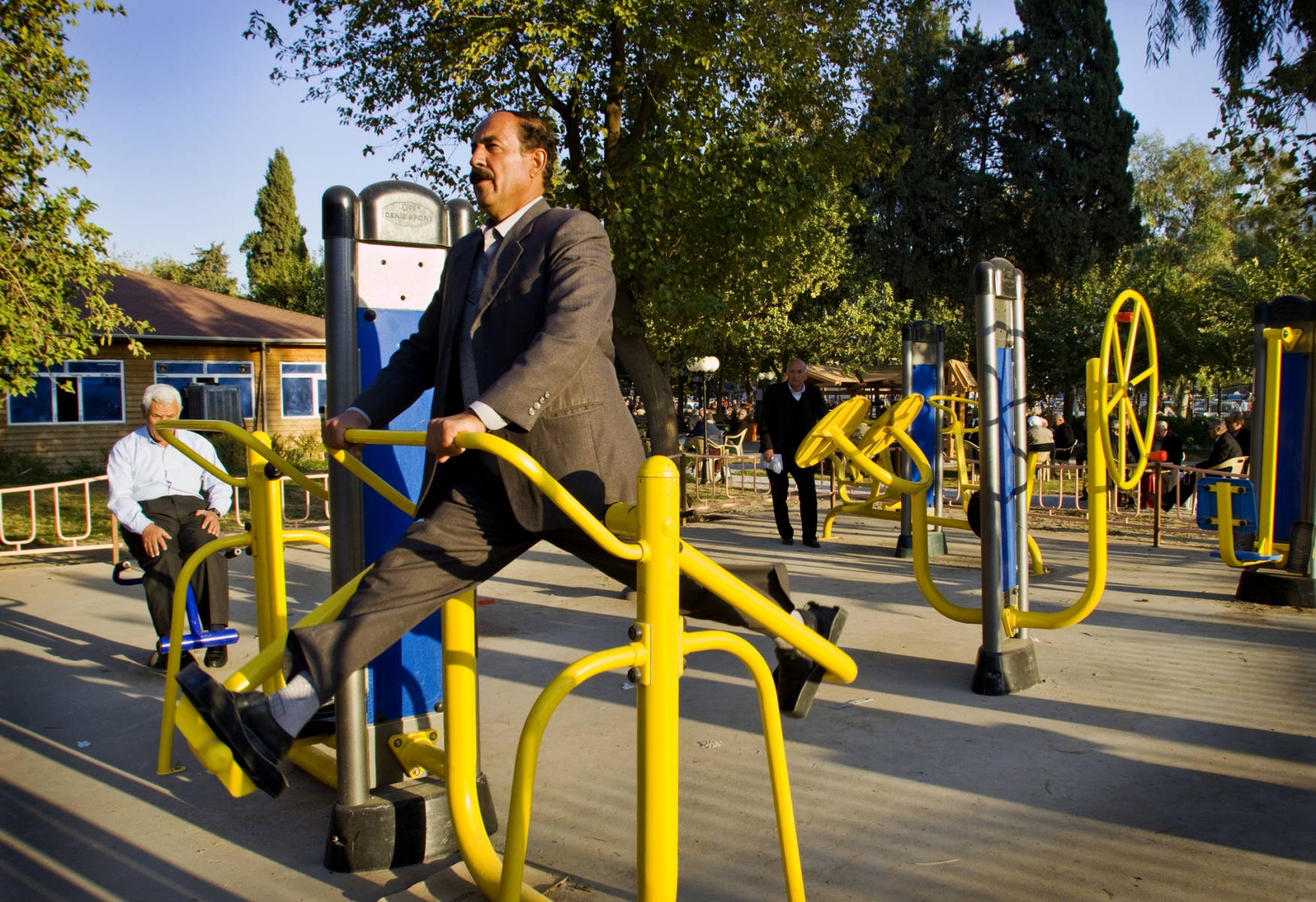 Outdoor gym in Erbil, Iraq 2009