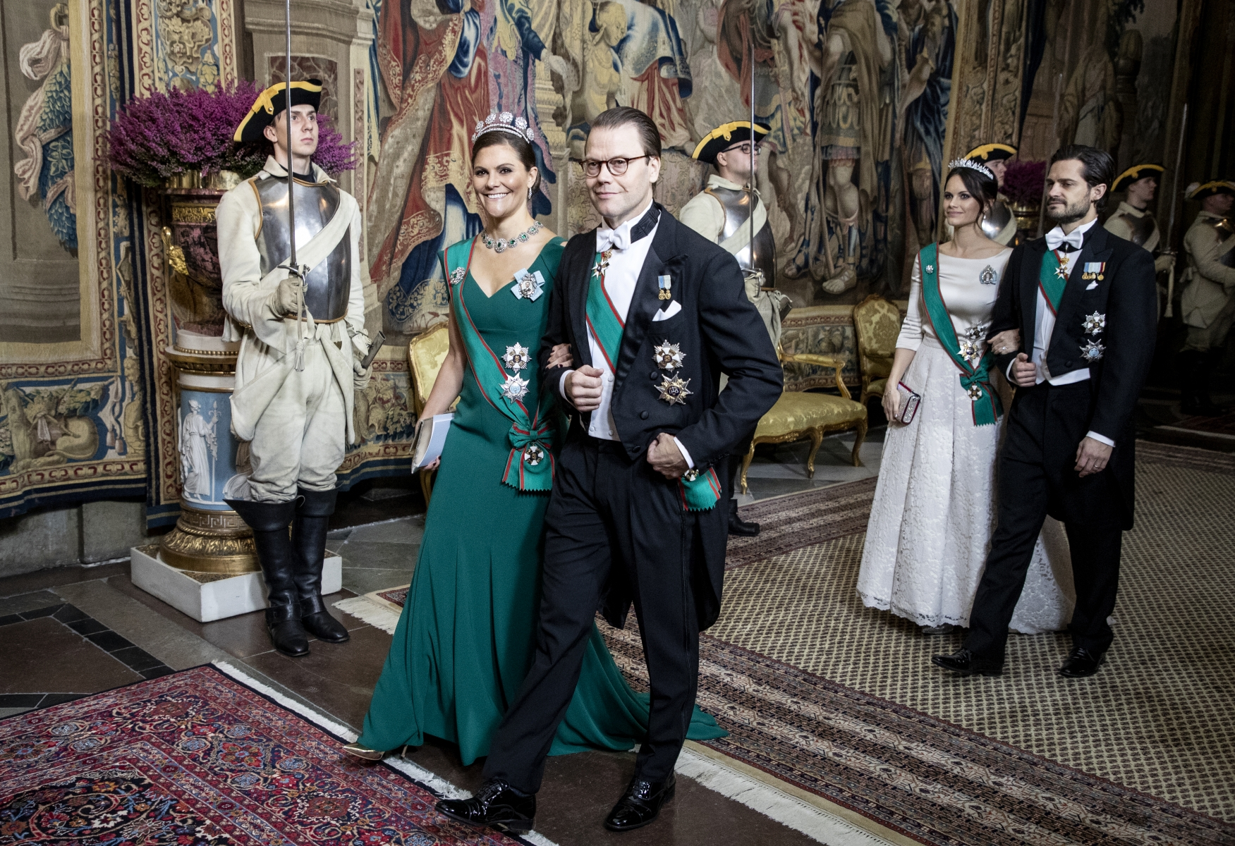 Swedish royals during a state visit from Italy