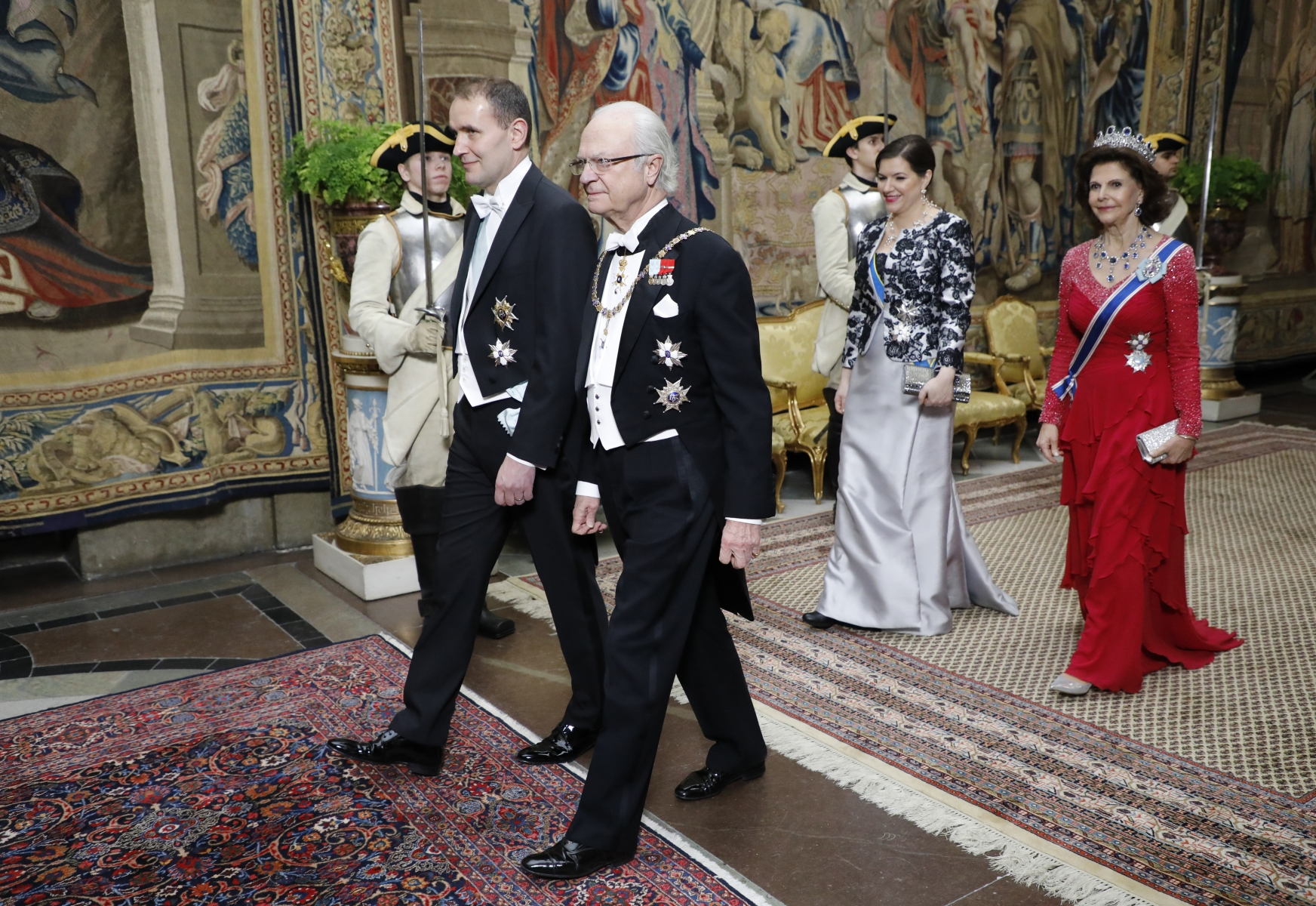 Iceland's President Guðni Jóhannesson and Sweden's King Carl Gustaf