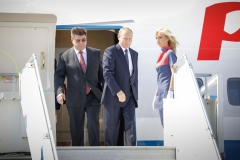 Vladimir Putin, President of Russia arrives  to Helsinki 2018