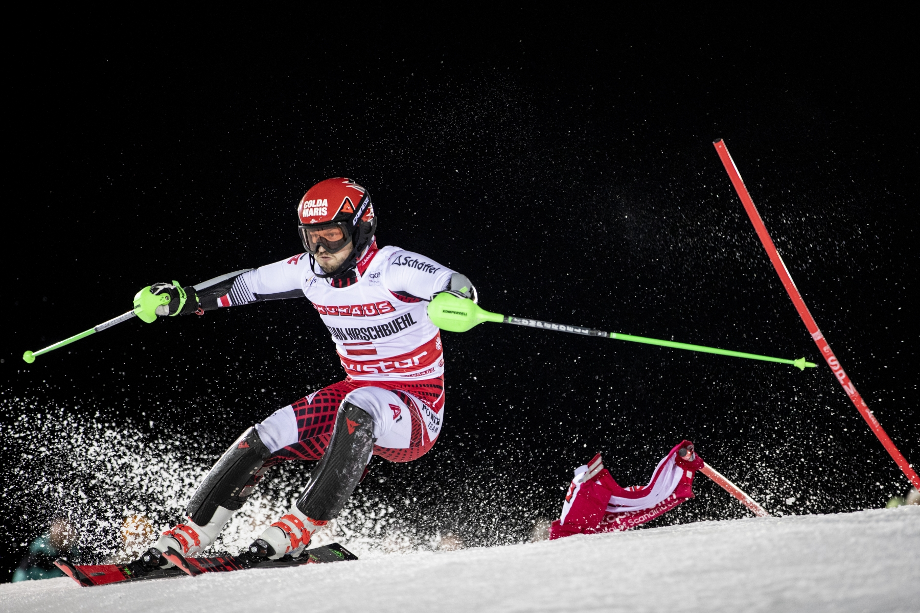 Christian Hirschbuehl in the world Cup in parallel slalom in Stockholm 2019