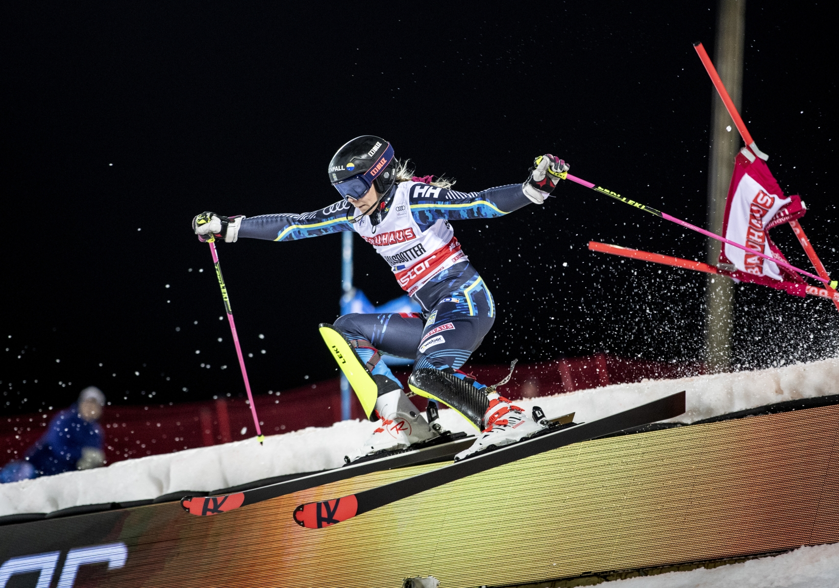 Frida Hansdotter in the world Cup in parallel slalom in Stockholm 2019