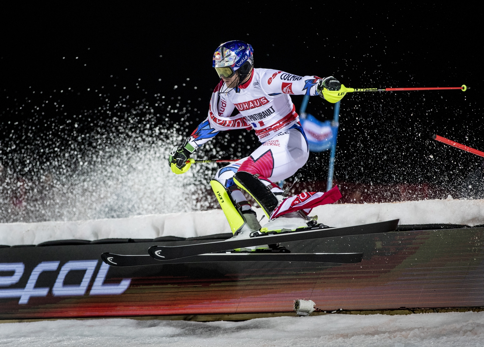 Alexis Pinturault in the world Cup in parallel slalom in Stockholm 2019