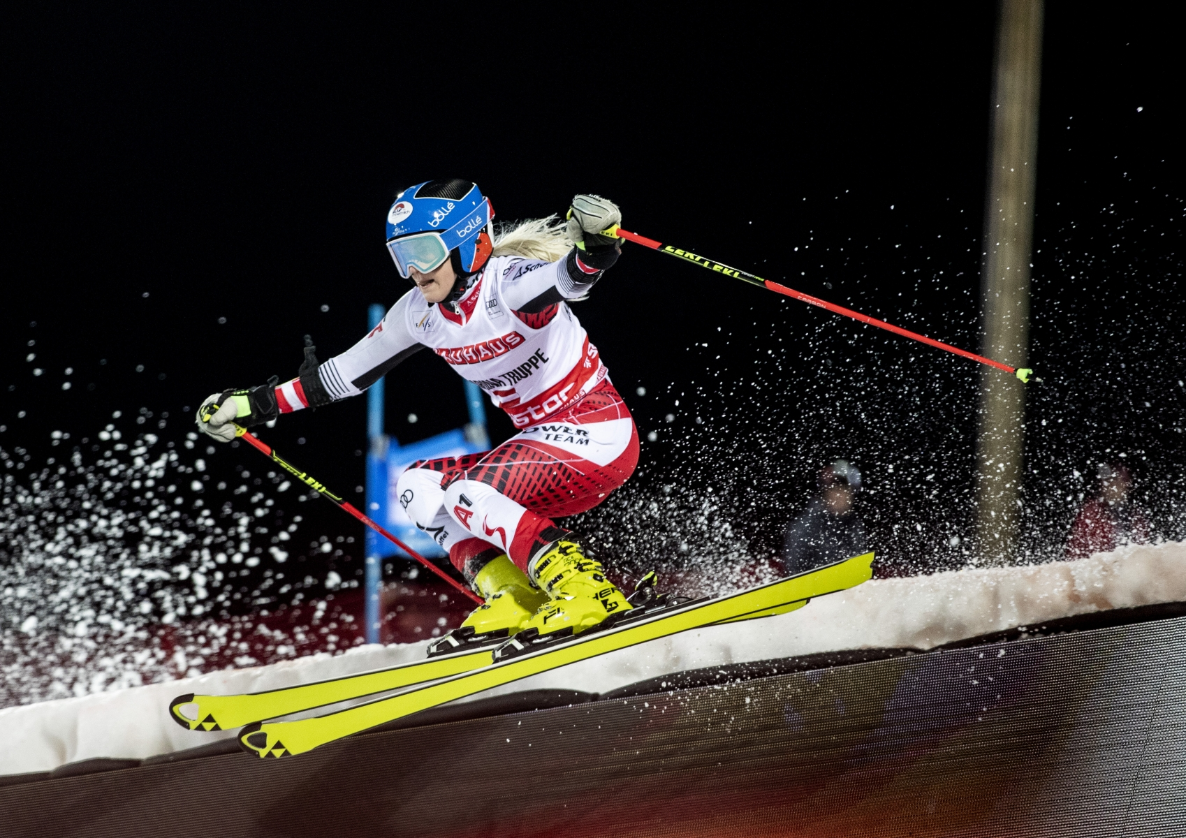Katharina Truppe in the world Cup in parallel slalom in Stockholm 2019