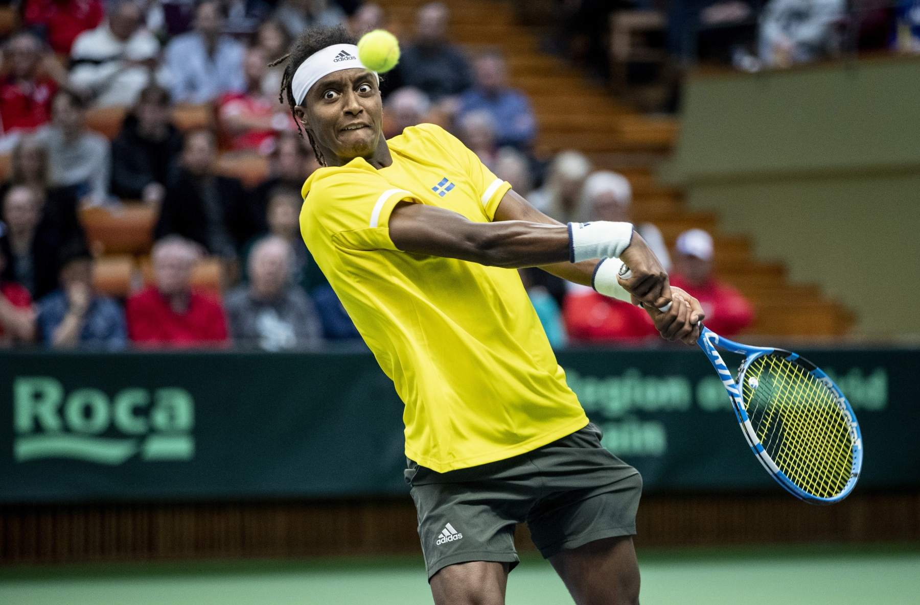 Mikael Ymer during Davis Cup 2020
