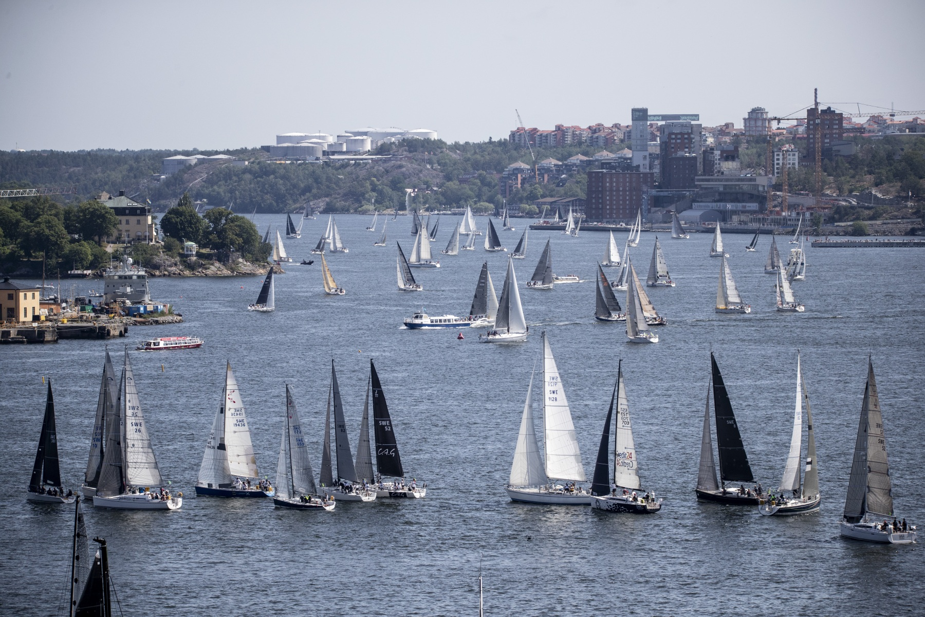 The start of ÅF Offshore Race 2019