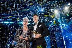 Nilla Fischer and Victor Nilsson Lindelöf at the swedish fotball awards