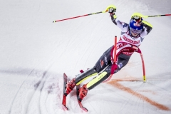 Mikaela Shiffrin in the world Cup in parallel slalom in Stockholm 2019