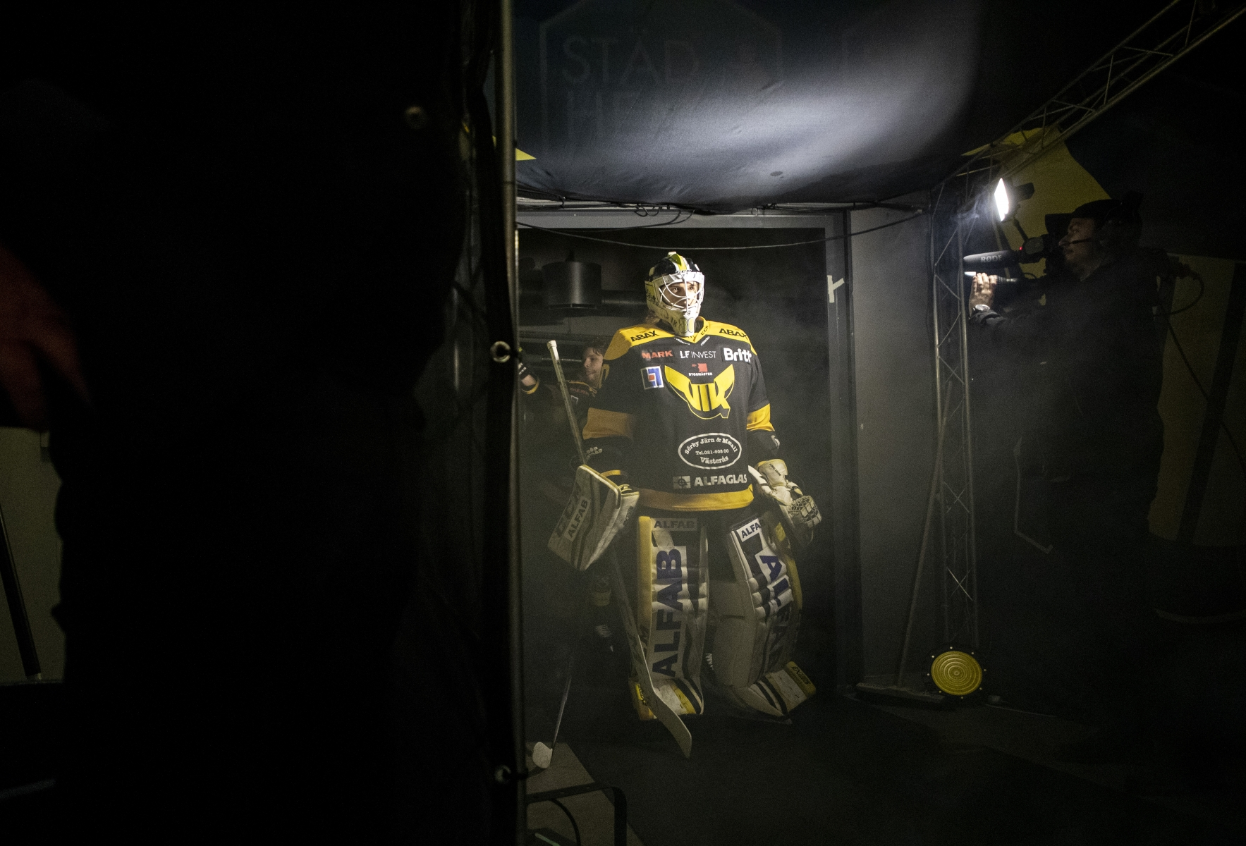 Goalkeeper Samuel Ersson in Västerås icehockey team 2019